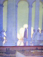 Cayley Robinson KINGDOM of the FUTURE Children in TOGAS Dancing 1911 Art Matted
