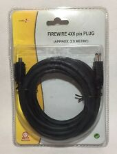 2.5m Firewire 6 X 4 Pin Enchufe por Poweer Plus