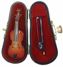 Miniature Musical Instrument - Cello and Bow with Case 3 Inches (CC7)