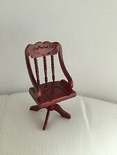 BNIB Dolls House Miniature Mahogany Study Chair