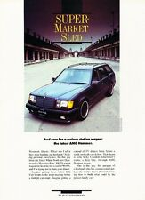 1988 Mercedes Benz AMG Hammer 300tD Wagon Original Car Review Print Article J578