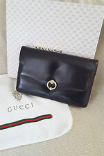 *GUCCI* VINTAGE CALF LEATHER CLUTCH BAG (1950s)