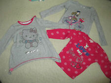 072 Marks & Spencer & Debenham bluezoo set 3 X tops  size 18-24 mont hello kitty