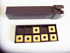 "New - MSRNL-86-6 (1 1/2"") Tool Holder (Left Hand) with 7 Pcs Coated Inserts"