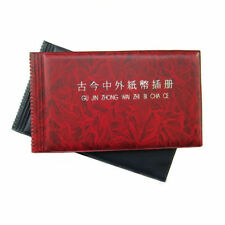Paper Money Pocket Wallet Currency Banknote Collection Album for 20 Notes Pages