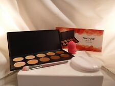 New Coastal Scent Camouflage Palette W/ Sponge & Brush Combo Bonus Cushion Puff