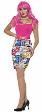 Adult Sexy Pop Art Comic Printed Skirt Costume One Size