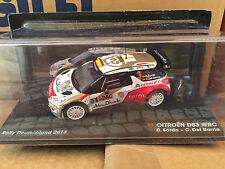 """DIE CAST """"CITR0EN DS3 WRC RALLY DEUTSCHLAND 2013 D.SORDO - C. DEL BARRIO"""" 1/43"""