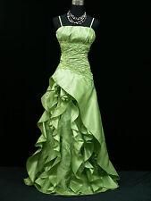 Cherlone Übergröße Grün Lange Ballkleid Hochzeitskleid Brautjungfer Kleid 48