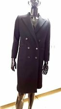 Salvatore Ferragamo Black Cashmere Double-Breasted Long Coat Chest size 42