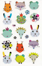 Mrs. Grossman's Turnowsky Stickers - Woodland Frilly Faces - Hedgehog - 2 Strips