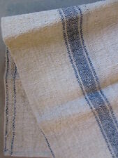 Vintage GRAIN SACK feed sack natural grainbag feedsack homespun Dark BLUE stripe