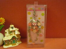 Sanrio Hello Kitty Colorful Flower Ring Phone Strap/ Pendant @2006 - Pink