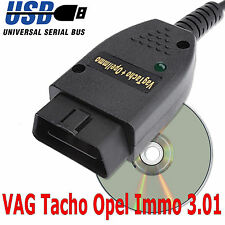 VAG TACHO 3.01 + Opel Immo USB COM install guide provided quality cable