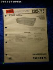 Sony Service Manual CDX 715 CD Changer (#4256)
