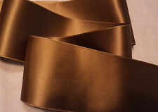 """2"""" WIDE SWISS DOUBLE FACE SATIN RIBBON-  ANTIQUE GOLD  -   BTY"""