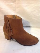 Next Brown Ankle Suede Boots Size 35.5