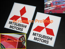 "2x 5"" 12.7cm Mitsubishi Motors wing Decal Sticker Lancer Evolution GSR Evo 5 6 7"
