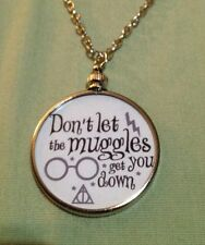 Harry Potter Saying doublesided Charm Pendant Don't Let the Muggles White 1W