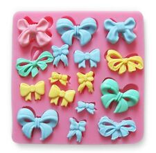 New Silicone Fondant Bowknot Mould Mold Birthday Cake Decorating Bakeware Tool