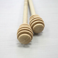 2 Pcs Wooden Honey Dipper Stick for Honey Jar Long Handle Mixing Stick Infinity&