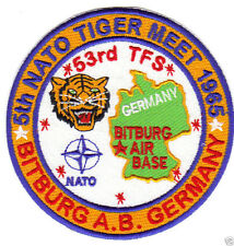 5TH NATO TIGER MEET PATCH, BITBURG AIR BASE GERMANY, 53RD TFS             Y