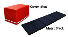 MULTI PURPOSE MAGIC BOX CUSHION FOLDABLE PLAY MATS FOR BABY TODDLER RED COLOR