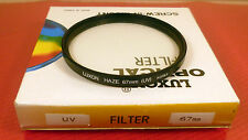 67mm UV FILTER: TOP QUALITY LUXON MADE PRODUCT: NEW BOXED