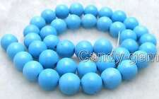 "SALE Big 12mm Blue Round TURQUOISE strand beads 15""-los415 Free shipping"