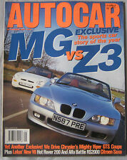 AUTOCAR 28/2/1996 featuring BMW Z3, Chrysler Viper, MGF, Alfa Romeo, Ford, Rover