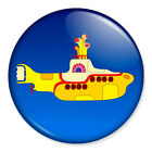 "The Beatles Iconic Yellow Submarine 25mm 1"" Pin Badge Button Lennon McCartney"