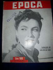 EPOCA 1951 GINA LOLLOBRIGIDA  più bella del suo nome