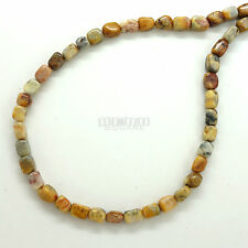 "15""+ Natural Crazy Lace Agate Rectangle Nugget Small Beads #12123"