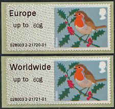 WINCOR TII ROBIN MA12 ROBINS EUR & WW to 60g RATES PAIR FS53d + FS56d POST & GO