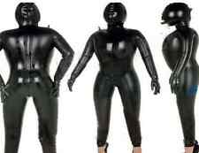 Latex Rubber Bodysuit Black Inflatable Tights Hood Fashion Suit Size XS- XXL