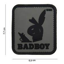 NEW 3D PVC 101 Inc Badboy Bunny Military Army Tactical Morale Patch Urban Grey