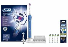 Braun Oral-B 4000 Smart Series 3D White Electric Toothbrush + EB18-4 Extra Heads