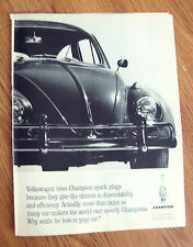 1963 Champion Spark Plugs Ad  VW Volkswagen Bug