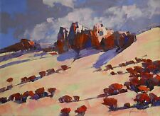 Areni Mountain Original oil Painting Handmade art Post Impressionism