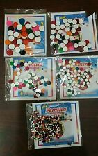 300+ Piece-Multi Color  Indian Bindi Round Dots Tattoo- 5 Different SIZE