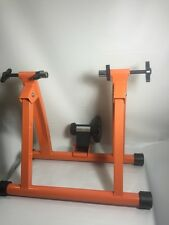 Indoor Bicycle Cycling Trainer Exercise Stand, (Orange)