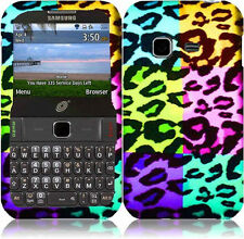 For Straight Talk Samsung S390G Rubberized HARD Protector Phone Case Leopard