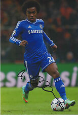 WILLIAN Signed Autograph 12x8 Photo AFTAL COA Chelsea Premier League RARE