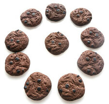 10 GORGEOUS COOKIES KITCH CABOCHONS KAWAII DECODEN - FAST FREE SHIPPING