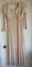 Antique original silk & handmade lace gown circa 1900