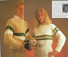 Crochet Pattern ~ Ladies & Mens Sweater His & Hers ~ Instructions
