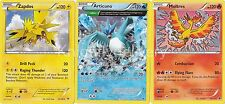 Legendary Birds Set - Articuno + Zapdos + Moltres - Near Mint - Pokemon