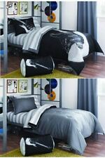8pc Queen Sized Guitar Rock N Roll Youth Teen Comforter Set Reversible Bedding