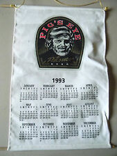 Pigs Eye Beer Cloth Calendar 1993- Wall hanging