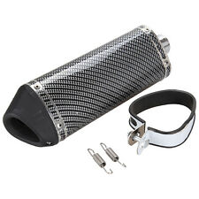 Universal 38mm Motorcycle Carbon Fiber Exhaust Muffler Pipe Silencer DB Killer